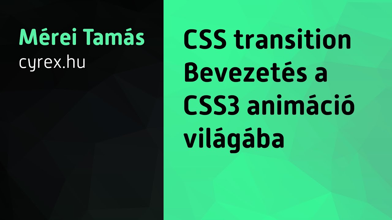 Tutorial: CSS transition - YouTube