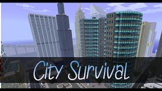 [Minecraft] City Survival #1   De la survie, dans une ville moderne.