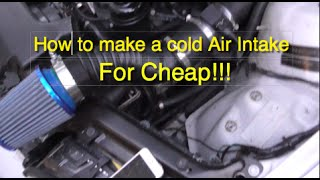 How to make a RICEY Cold Air Intake for Cheap!!