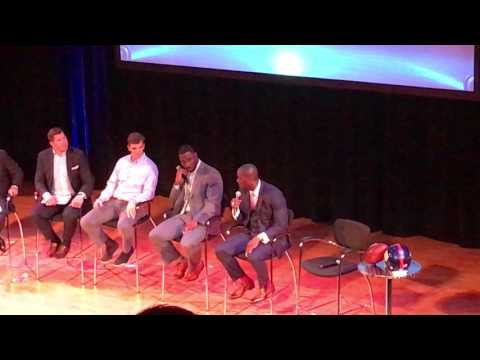 New York Giants Town Hall Interviews Eli Manning, Justin Tuck and Plaxico Burress