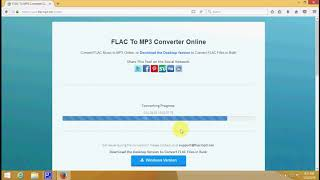 How to convert audio files from FLAC to MP3 online
