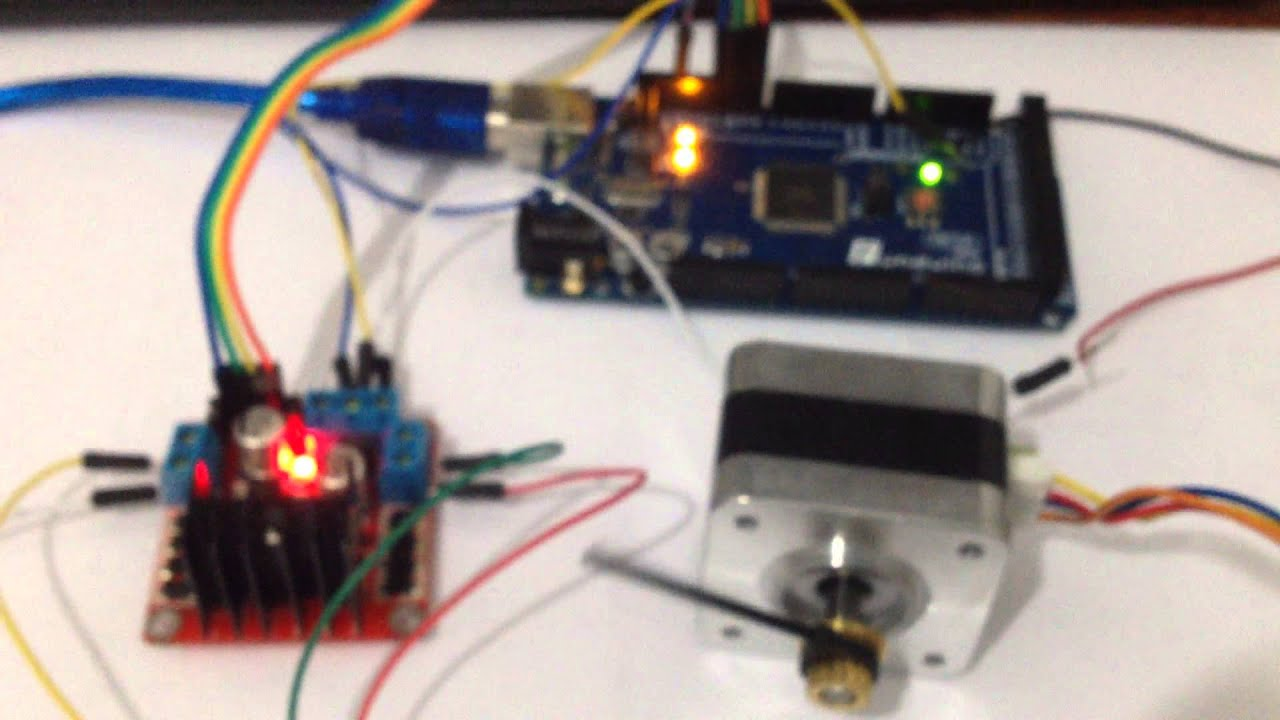 Stepper motor control using l298n youtube for Dc stepper motor working