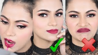 मैट लिक्विड लिपस्टिक कैसे लगायें 3 Tricks To Apply Matte Liquid Lipstick in Hindi