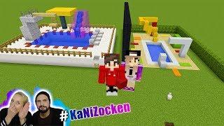 KAANS SCHWIMMBAD vs NINAS SCHWIMMBAD! Minecraft Pool Build Battle - Welches ist besser? #KaNiZocken