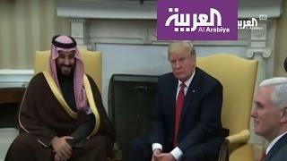 محمد بن سلمان أول مسؤول عربي وإسلامي يلتقي ترمب في البيت الأبيض