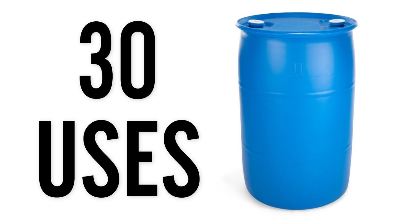 30 Gallon Plastic Barrels