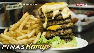 Pinas Sarap: Kara David, sumabak sa tombstone burger eating challenge