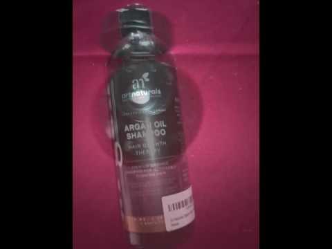 shampooing l 39 huile d 39 argan bio art naturals anti chute de cheveux youtube