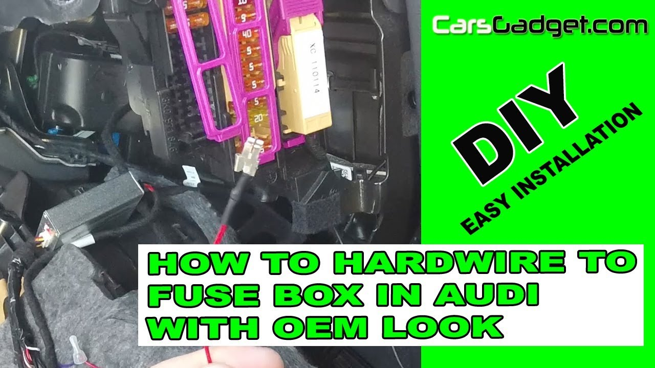 how to hardwire acc wire oem look in audi a4 a5 q5 a6 b8 b9 2018  [ 1280 x 720 Pixel ]