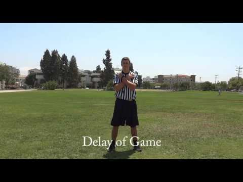 Intramural Officiating  Flag Football Signals & Mechanics