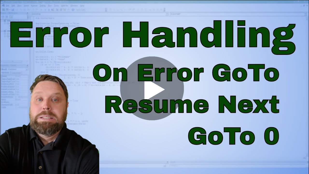 excel vba macro on error goto on error resume next and goto 0
