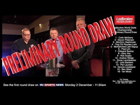 Draw for the Ladbrokes World Championship Preliminary Round