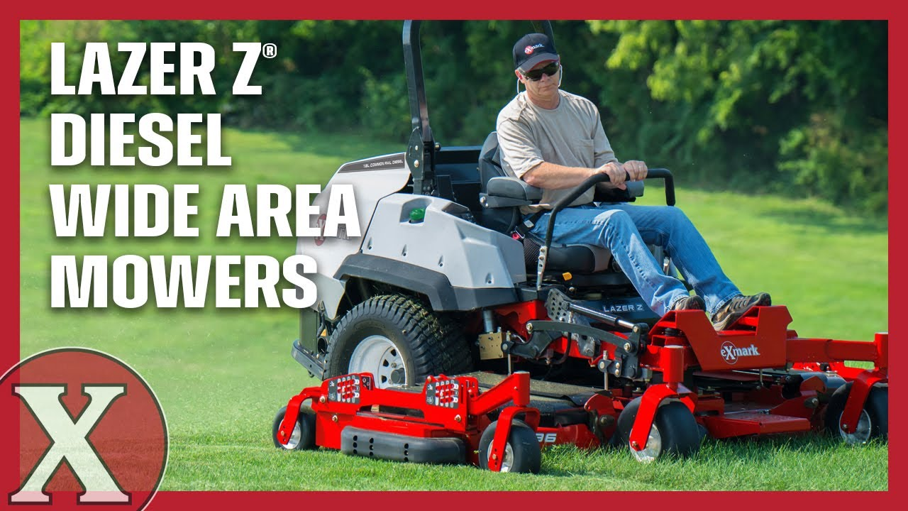 Discover Exmark S Lazer Z Diesel Wide Area Mowers Youtube
