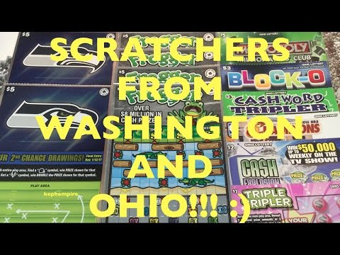 FIRST EVER WASHINGTON AND OHIO LOTTERY SCRATCHERS TO PLAY!!! - Mail Mondays