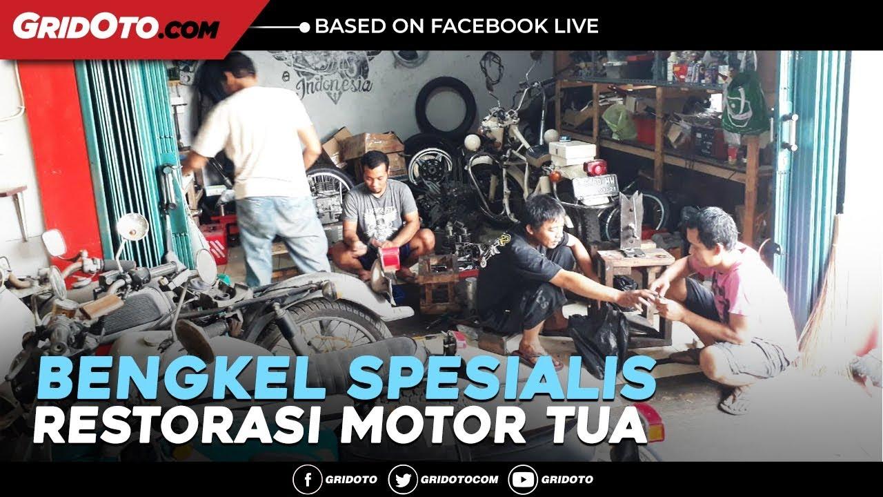 Berkunjung ke bengkel garage spesialis restorasi motor tua