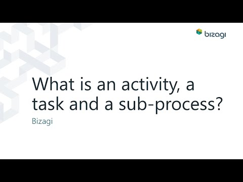 What Is An Activity, A Task And A Sub-process