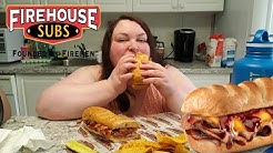 FIREHOUSE SUBS LARGE BEEF BRISKET AND CHEDDAR MUKBANG