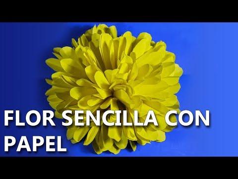 Flores De Papel Faciles Y Rapidas Paso A Paso