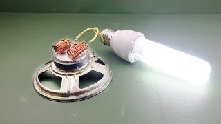 New 2019 Free Energy Generator 100% with Magnet Speaker Project At home