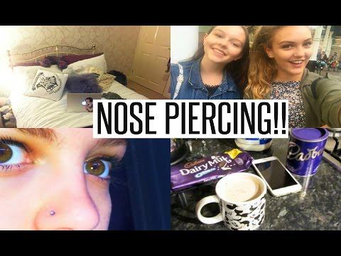 VLOG: GETTING MY NOSE PIERCED!!