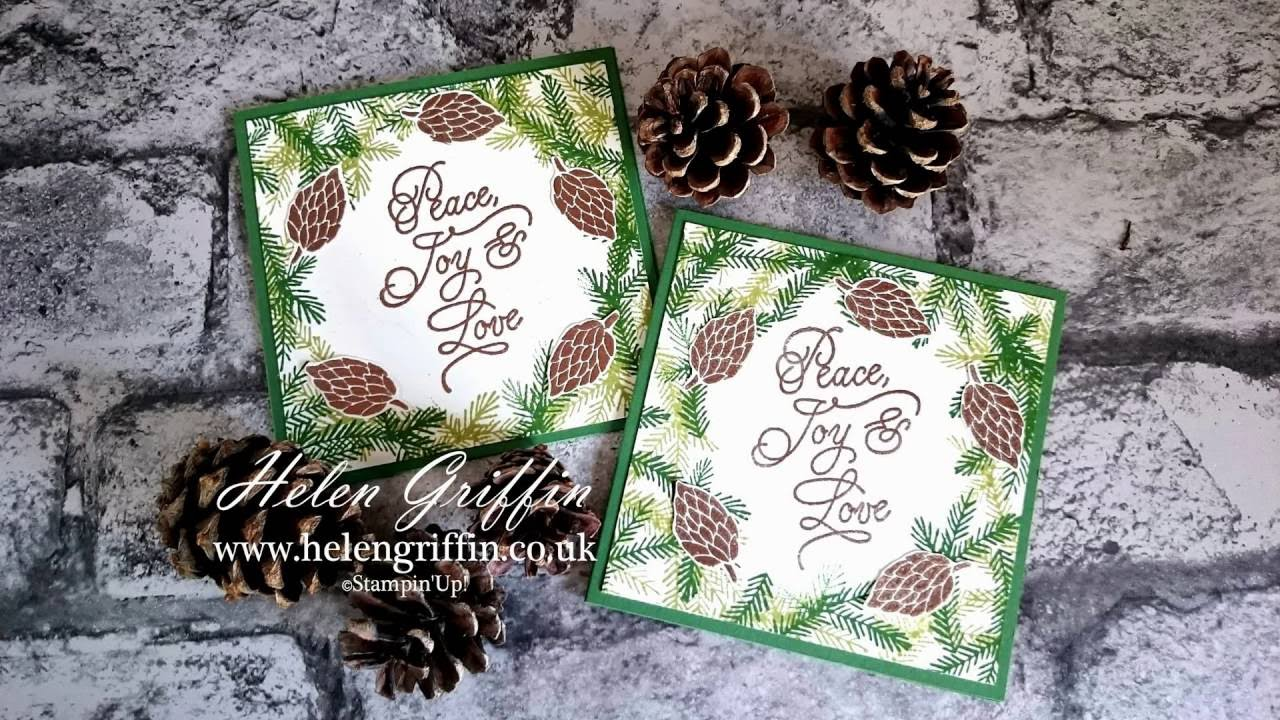Day 1 Christmas In July 2016 Stampin Up Copper Pine