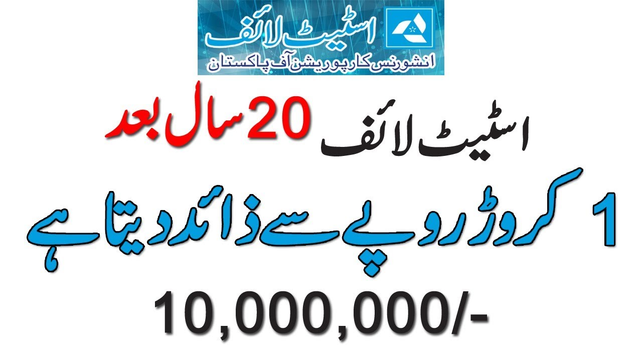 Rs 100 000 Yearly Premium And Earn 10 000 000 After 20 Years State Life Insurance Youtube