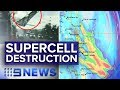 Supercell Thunderstorms Hit Sydney, Turns To QLD | Nine News Australia