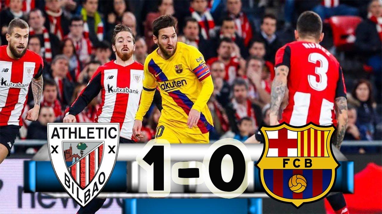 Athletic Bilbao vs Barcelona(1-0)//Resumen del partido ...