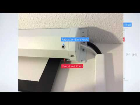 How to adjust the drop limit on an Antra projection screen