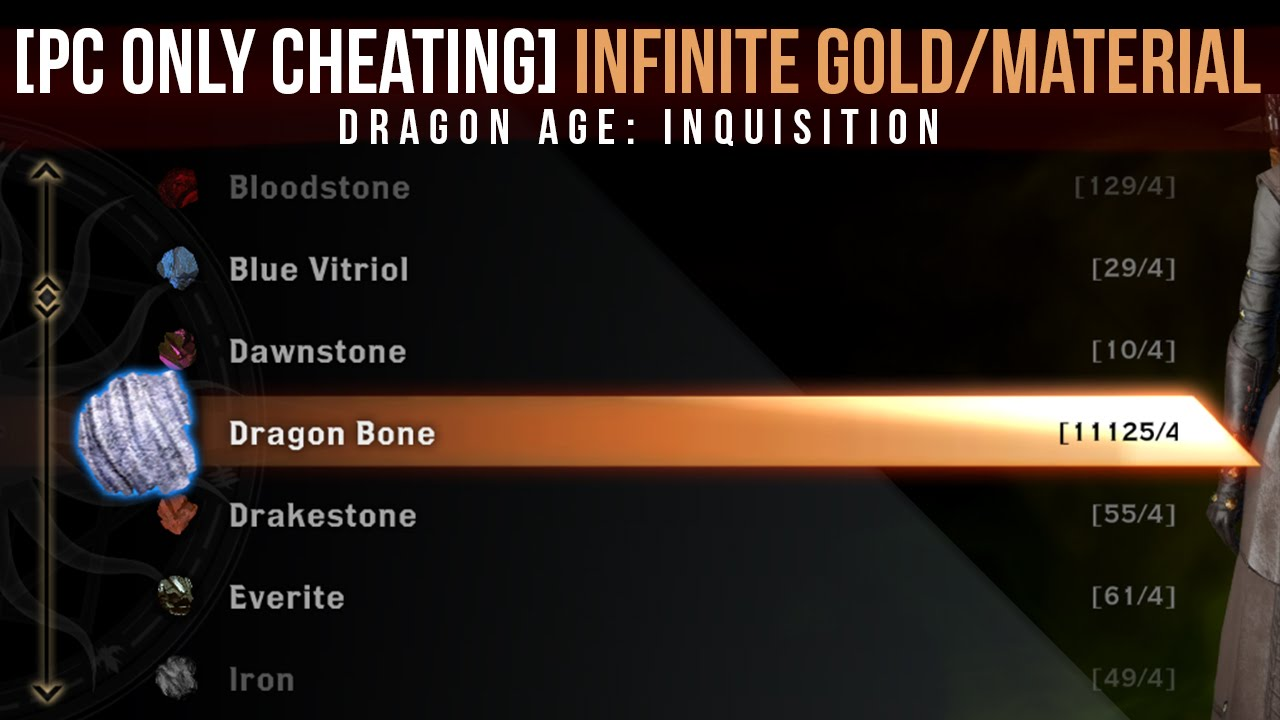 PC ONLY] Infinite Gold/Material in <b>Dragon Age</b>: <b>Inquisition</b> using ...