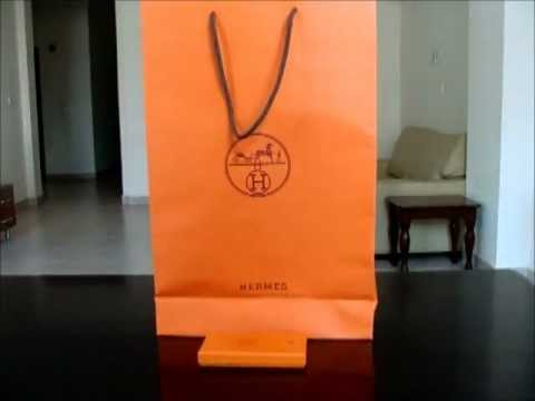 Unboxing Mini Review Hermes Scarf Hanging System