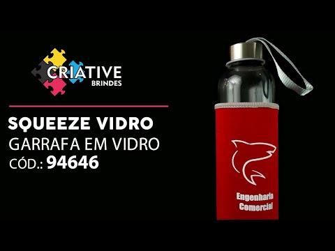Squeeze Vidro e Aço Inox 520ml 94646 Personalizado