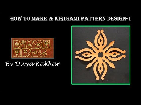 How To Make A Kirigami Pattern Design 1 Craft Tutorial Paper