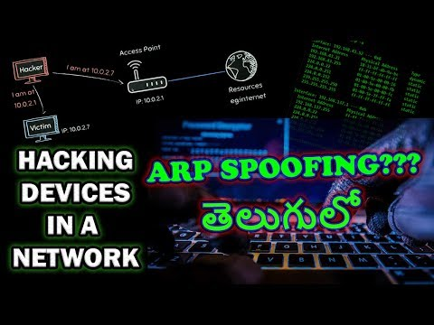 Hacking Devices In A Wifi Network?ARP Spoofing Explained In Telugu