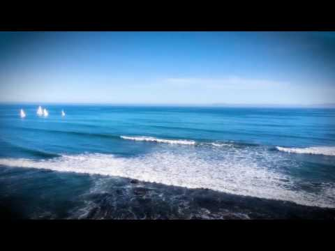 Relaxing Santa Barbara ocean with sailboats (HD 1-hour)