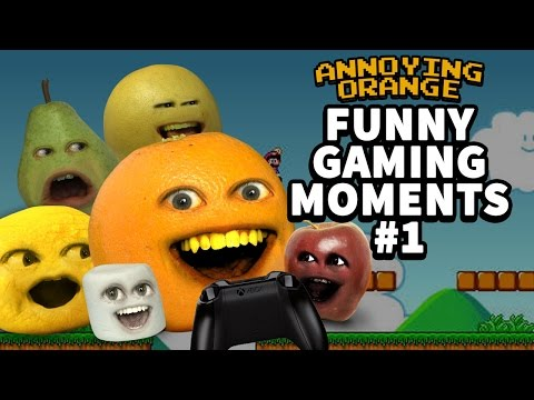 Annoying Orange - Funny Gaming Moments #1: BUTTSHOTS!