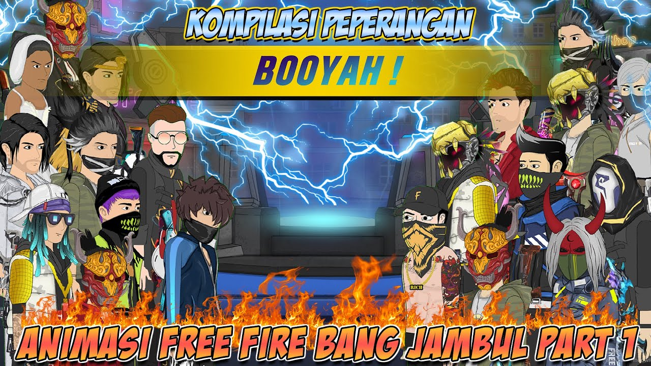 ANIMATION FREE FIRE  - KOMPILASI PEPERANGAN BOOYAH ! ANIMASI FREE FIRE BANG JAMBUL | PART 1