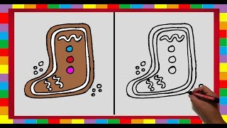 Como Dibujar un Calcetin Navideño / How to draw a Christmas sock (DibujaryCrear)