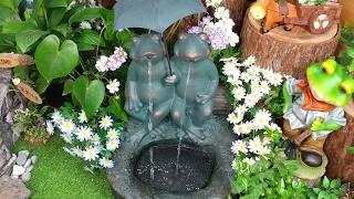 우산 개구리 분수/ 물의정원 꾸미기