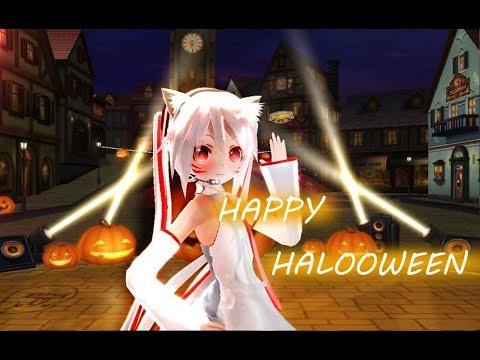 【萬聖節特別制作 - MMD+3D環繞】三媽九尾初音的Happy Halloween ☆中日字幕★建議戴上耳機☆