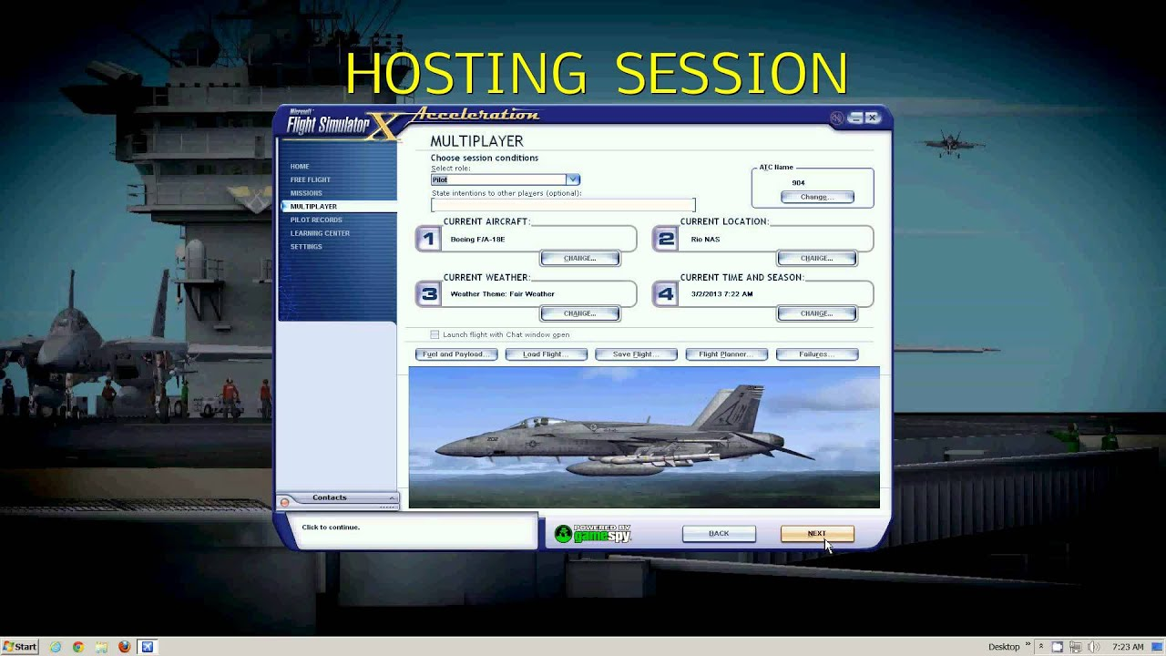 FSX Multiplayer Direct Connect