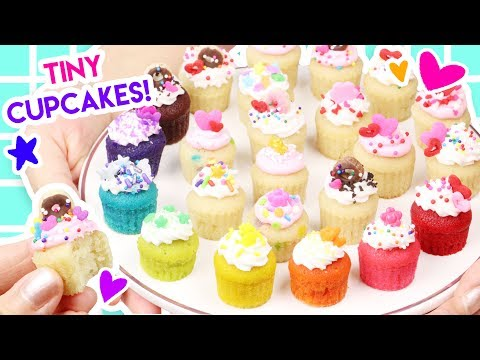 How to Make MINIATURE Cupcakes (100% Edible)!