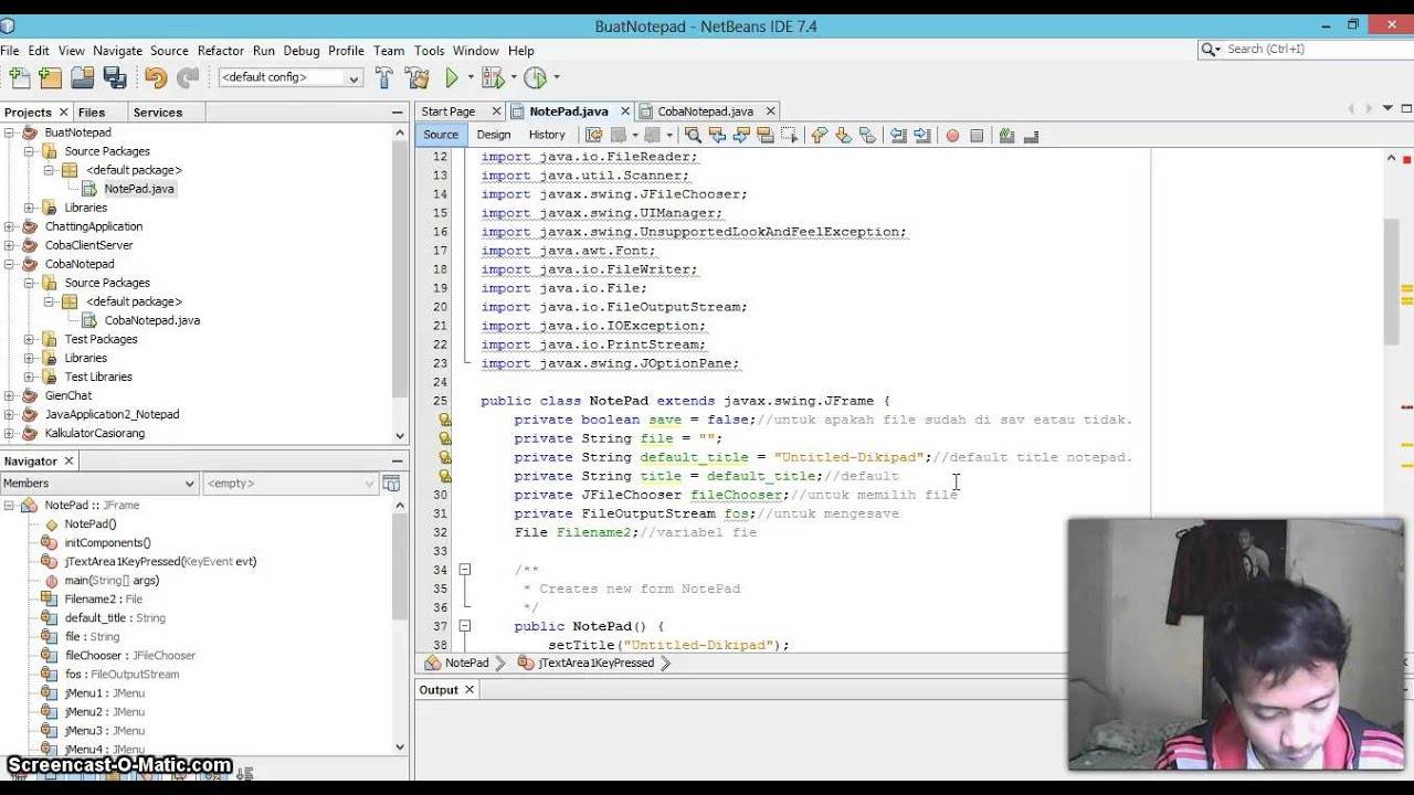 Tutorial how to make notepad application java programming using tutorial how to make notepad application java programming using netbeans part1 baditri Gallery