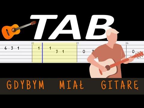 🎸 Gdybym miał gitarę - melodia TAB (gitara) 🎸