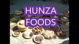Hunza food traditional diet...