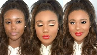 Get Ready With Me // Christmas Party Glam Makeup Tutorial