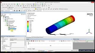 ANSYS Mechanical Tutorial - Bending Stress , von Mises and deformation