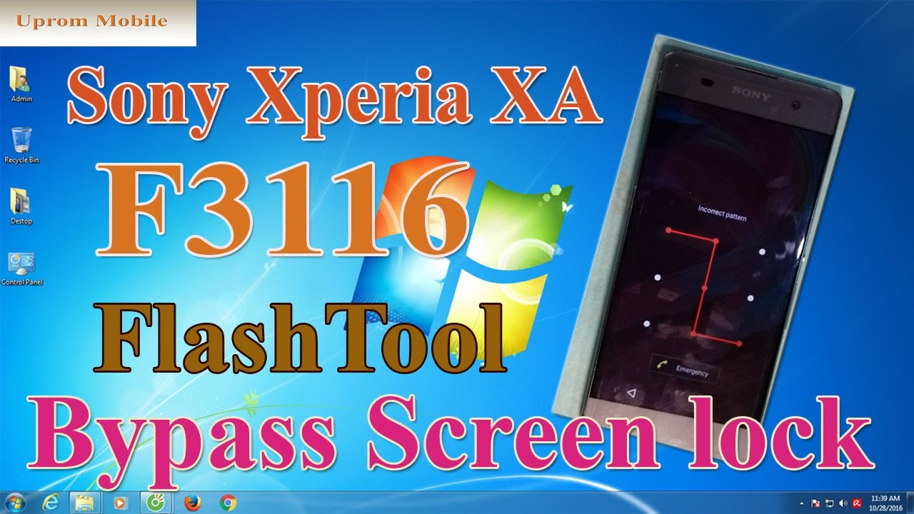 Sony Xperia F3116 screen lock pattern bypass ok by Flashtool ver 0 9 23 2