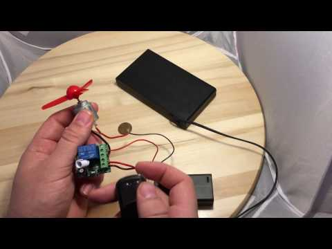 RF Wireless Electric Garage Gate Door Remote Receiver Relay switch 1 Channel C18