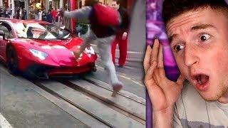 Guy KICKS Lamborghini For NO REASON..